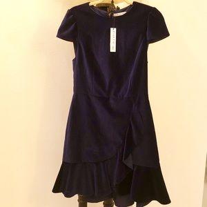 ALICE + OLIVIA velour dress